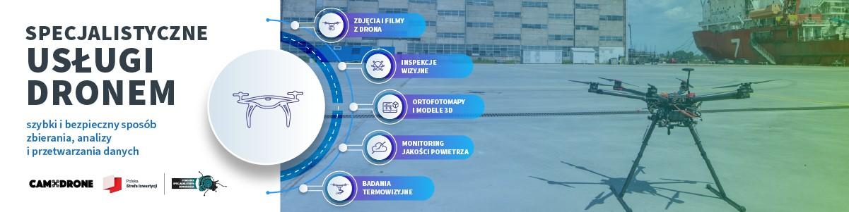 Camdrone współpraca z GPNT / PSSE usługi specjalistyczne dronem